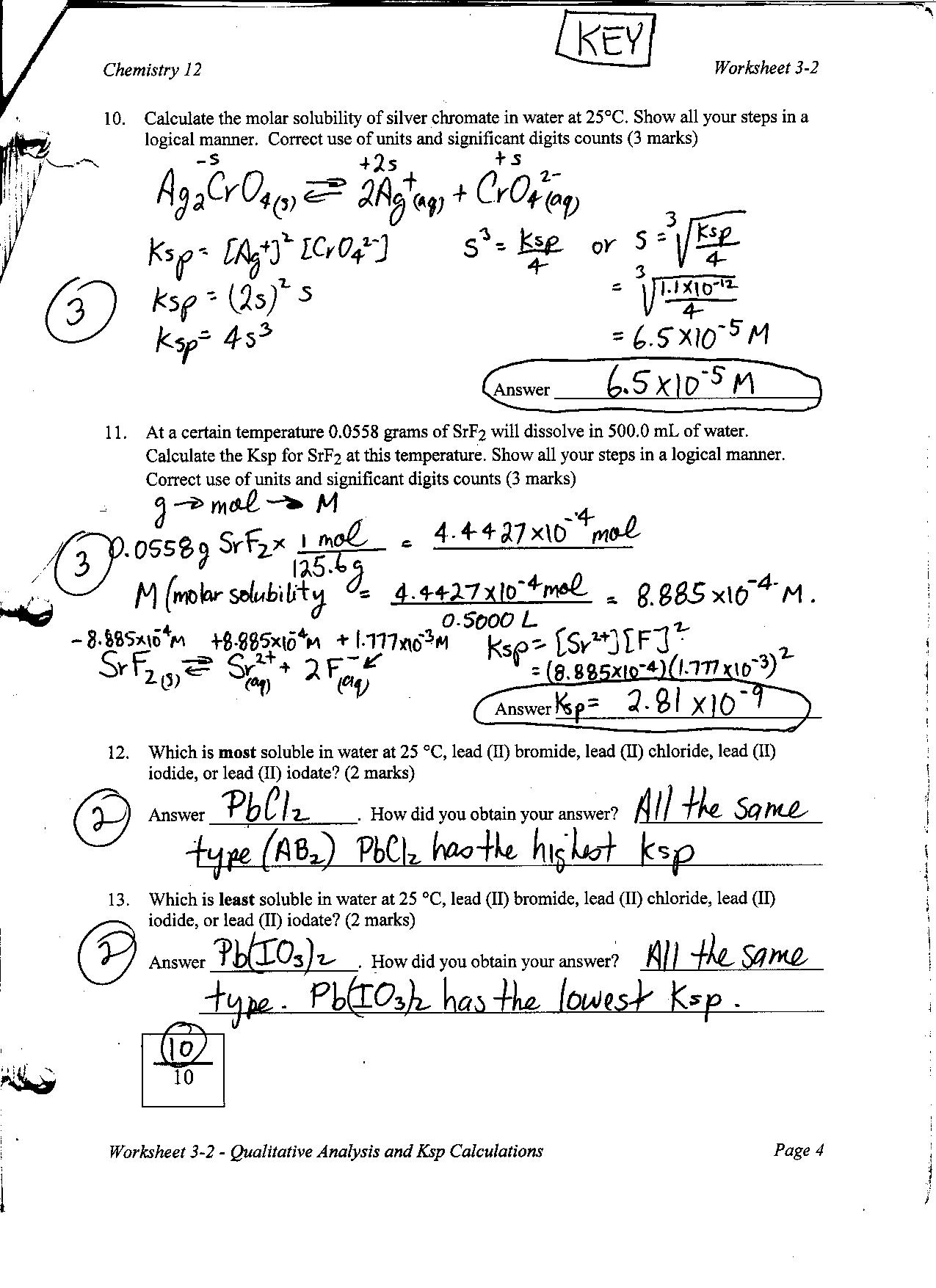 Solubility Ms Beaucage – Molarity Worksheet Answers