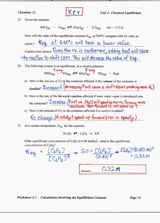 equilibrium ms beaucage rh msbeaucage weebly com School Answer Keys Worksheets with Answer Keys